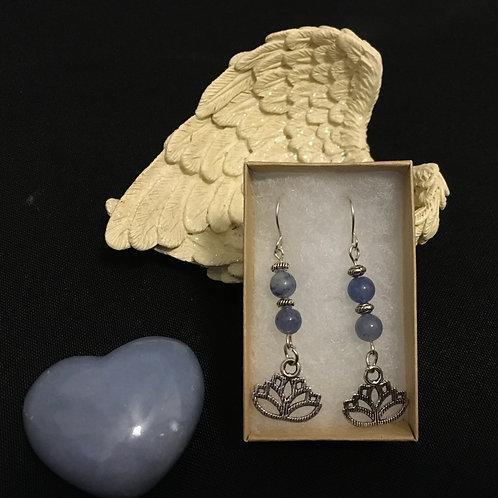 Hanging Lotus Earring