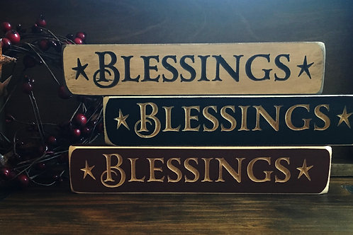 Engraved Blessings Wooden Signs