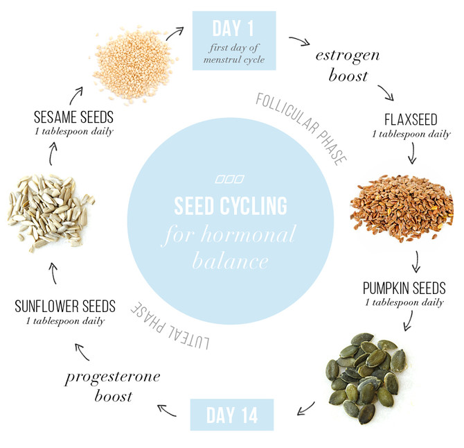 Balancing your hormones with seed cycling