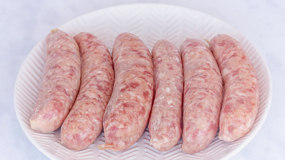 HOME REARED PORK SAUSAGES X6 (400g)
