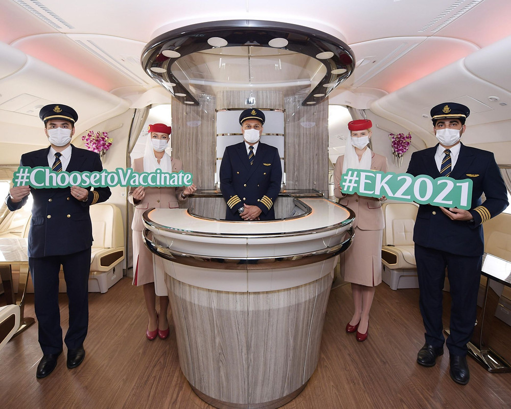 Emirates Operates First-ever Fully-vaccinated Flight