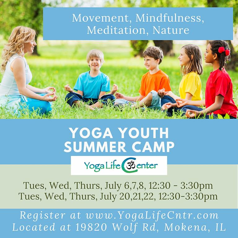 Yoga Youth Summer Camp - July 6, 7, 8