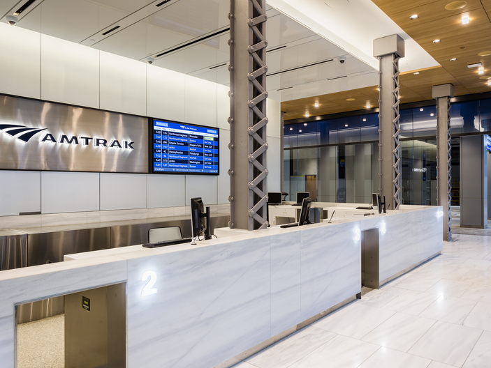 Amtrak Ticket Sales and Baggage Check-in