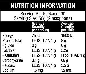 Qenda-Ultimate-Turmeric-450g-Nutritional