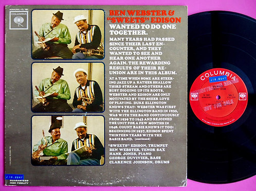 BEN WEBSTER & SWEETS EDISON / WANTED TO DO ONE TOGETHER