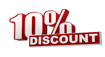 10% discount picture