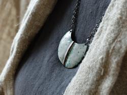 Altered landscapes enamel pendant