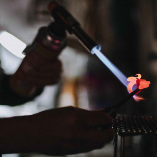 Working copper with the flame
