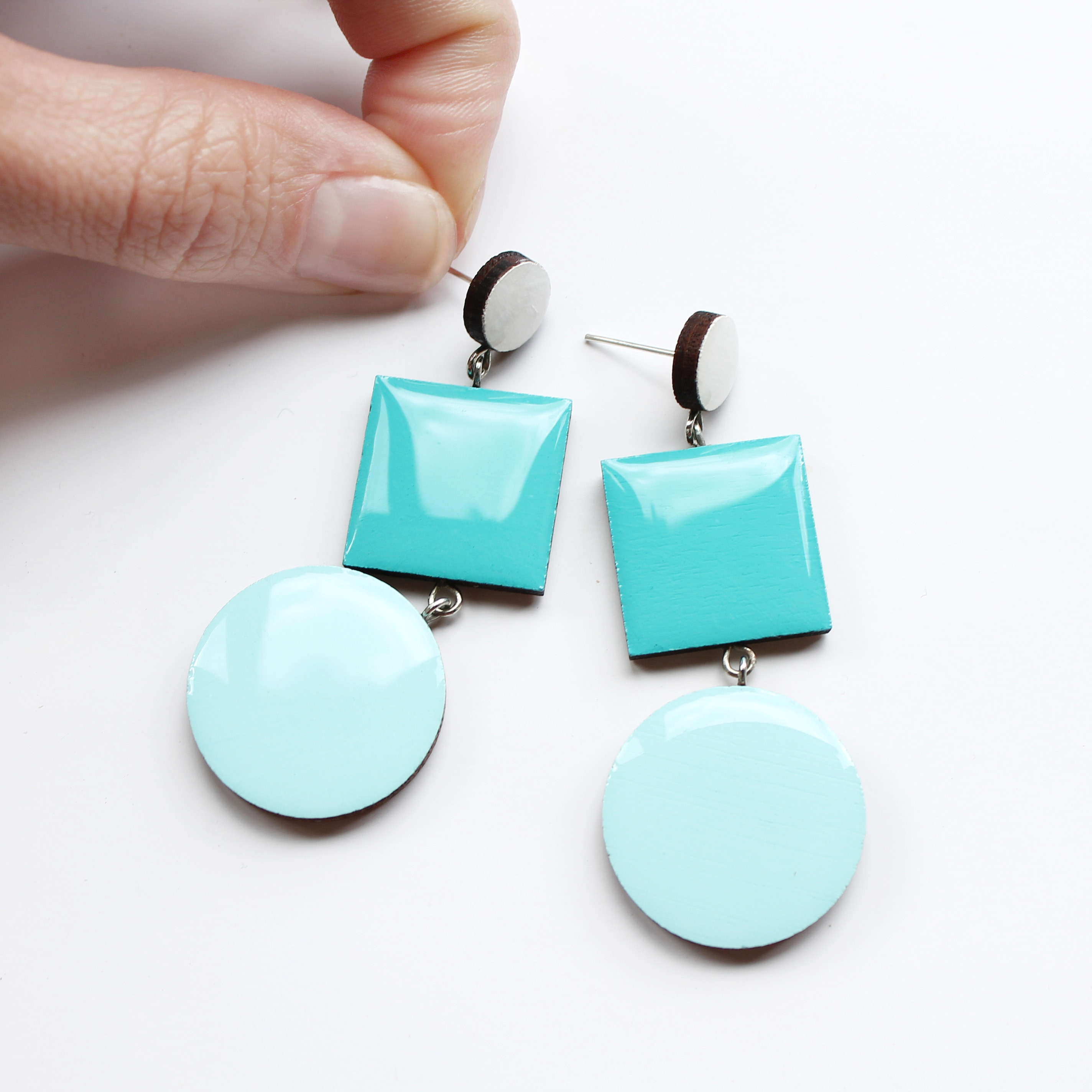 gemstone rare baker coloured larimar jewellery franki stud earrings sterling collections silver turquoise