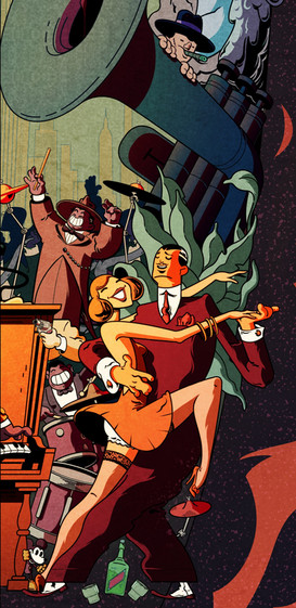 Gilles Warmoes Illustration Graphic Design Jazz in The Barrel -2