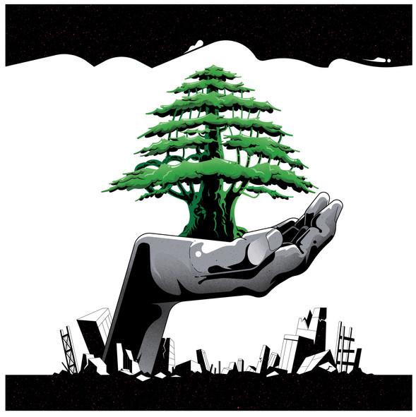 Hands_Hope_For_Liban Gilles Warmoes illu