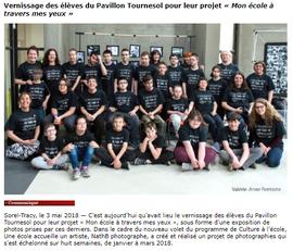 Vernissage des élèves du Pavillon Tourne