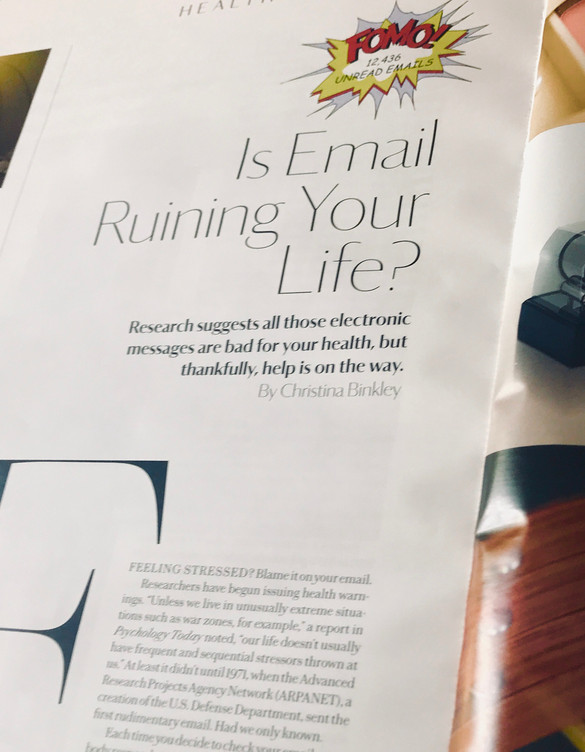 Gilles Warmoes illustration graphic design - Muse Magazine - Is Email Ruining Your Life?