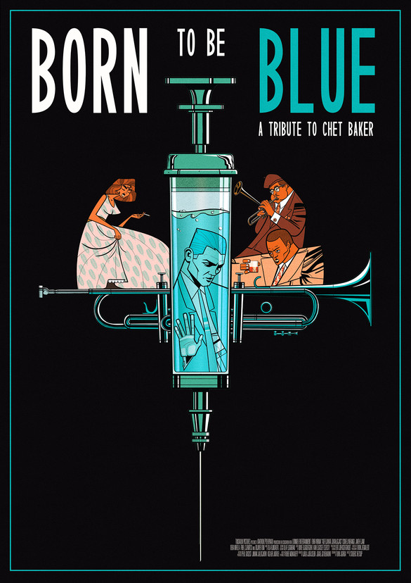 Gilles Warmoes illustration graphic design-Born to be Blue