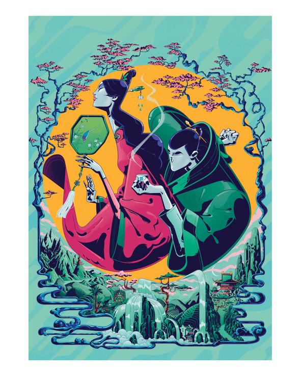 Gilles Warmoes - Illustrateur Graphiste-The tea love people