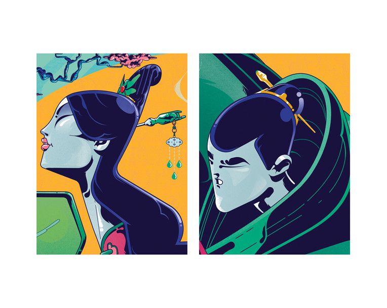 Gilles Warmoes - Illustrateur Graphiste-The tea love people character design
