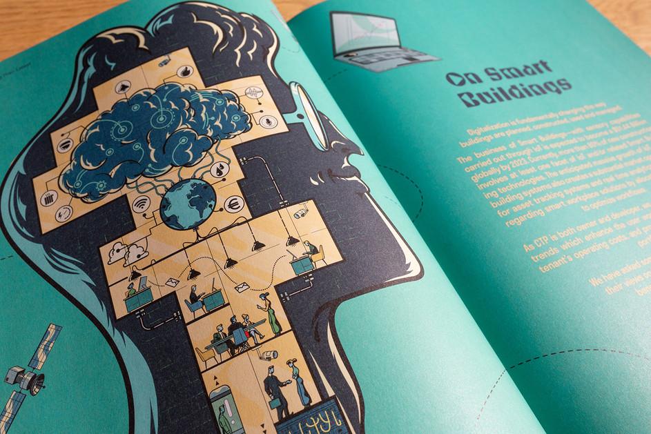 Gilles Warmoes illustration graphic design Smart BuildingGRID Magazine