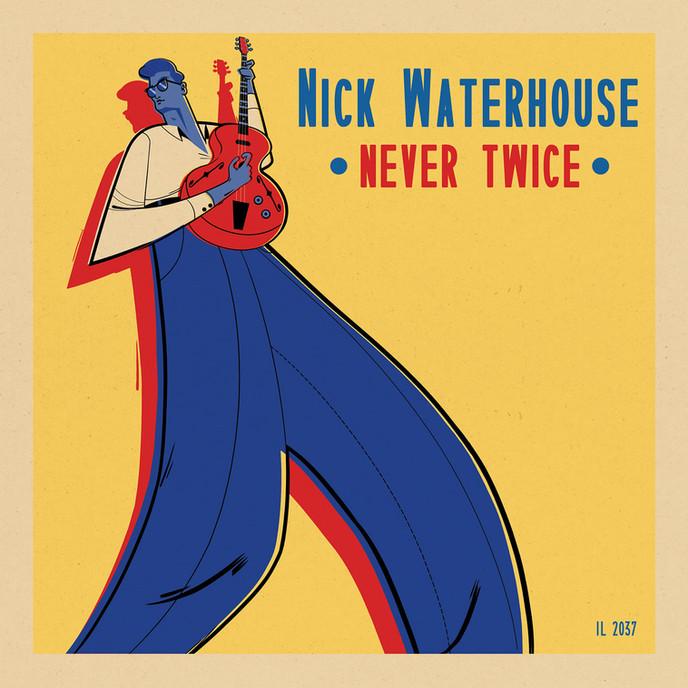 Gilles Warmoes illustration graphic design-Nick Waterhouse-Never Twice Vinyl