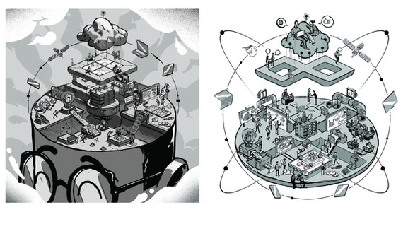 Gilles Warmoes illustrateur graphic design.Project for infinite square process