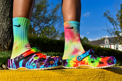 Smoke Tie Dye Socks