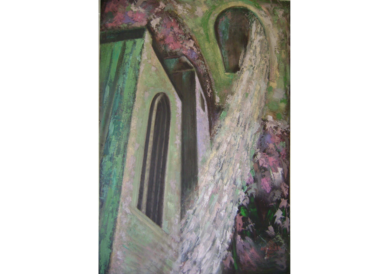 In Light 10, Mixed media on cardboard, 130 x 90 cm