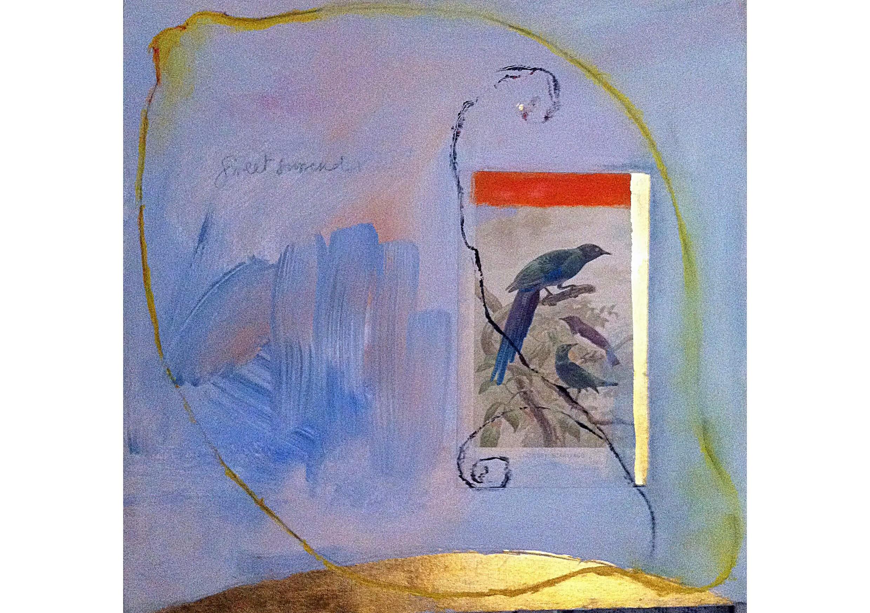 Lemon Sweet Surrender, Mixed media on canvas, 50 x 50 cm