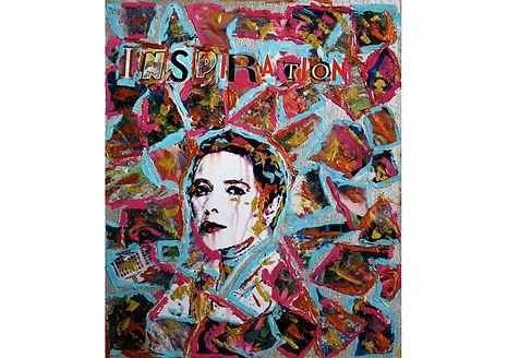 Inspiration - Isabella Rossellini, Acrylic on cardboard, 30.5 x 25.5 cm