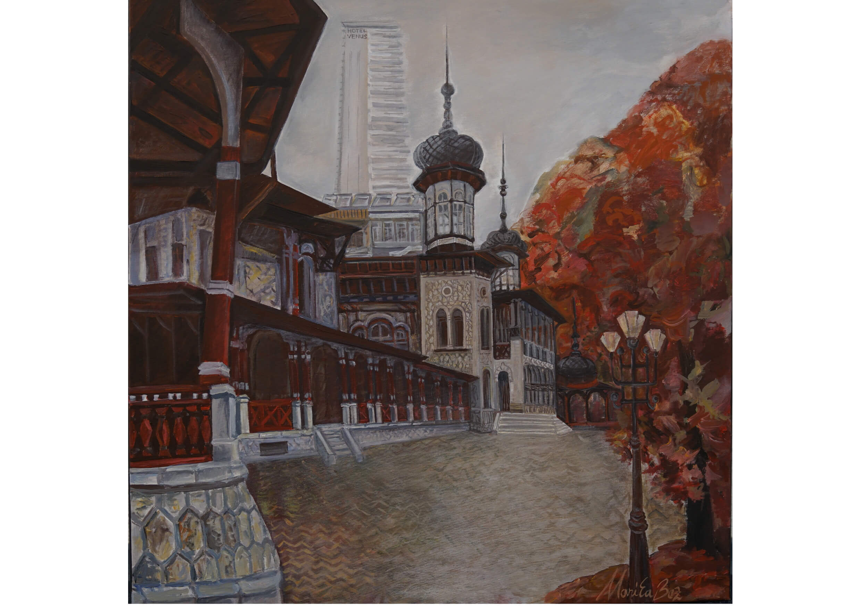 Casino of Slanic, Acrylic on canvas, 80 x80 xm