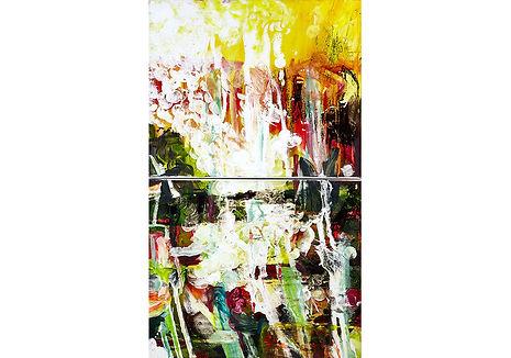 Salamandra, 2018, acrylic on canvas,  80x60cm
