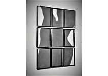 ORSO 2007, pencil on paper, painted  iron frames 9 elements, installation, cm.150x105x8