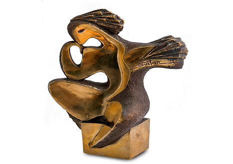 Sculpture #8, Bronze sculpture, 22 x 18 cm