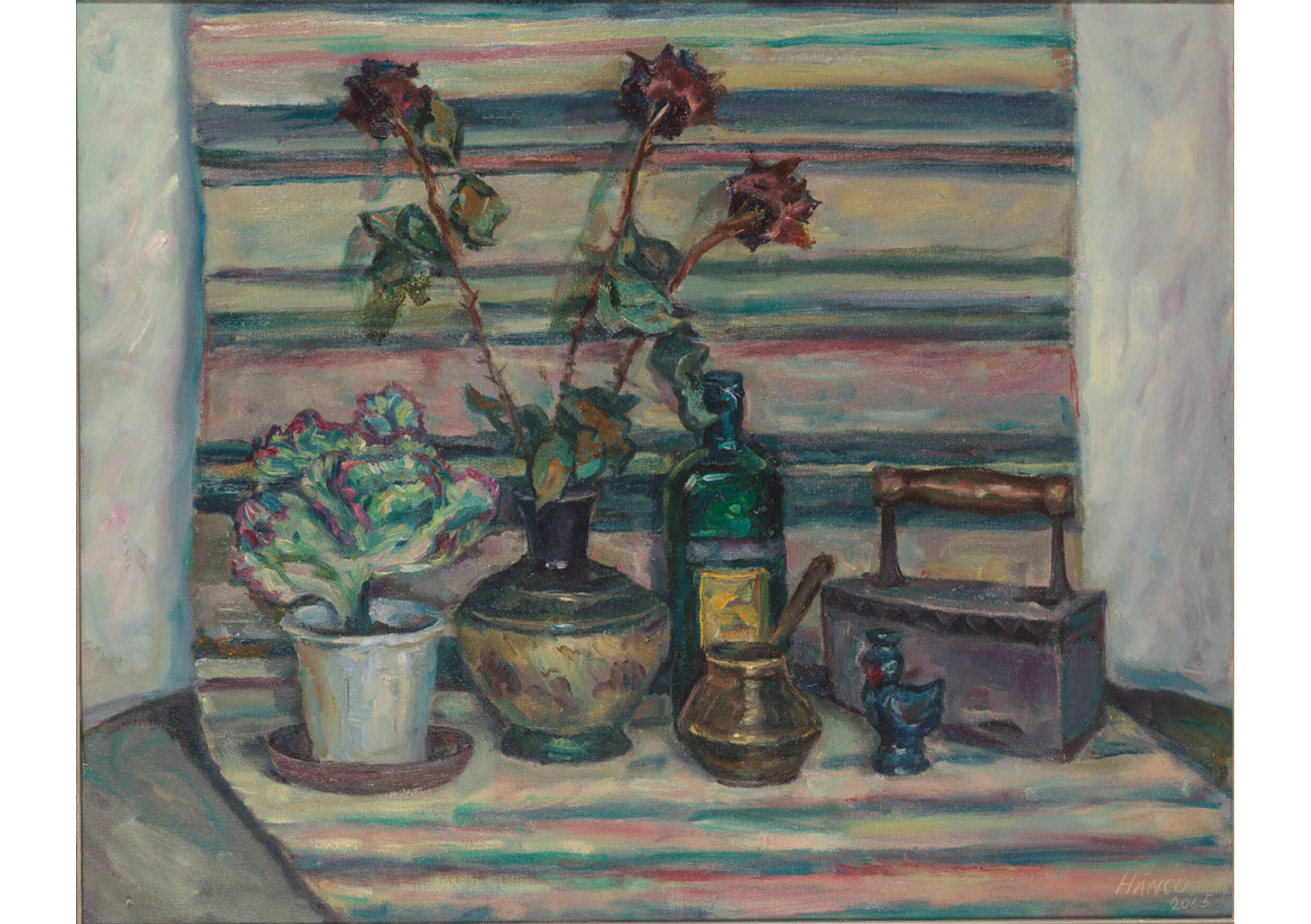 Still Life with Carpet, Oil on canvas, 80 x 100 cm