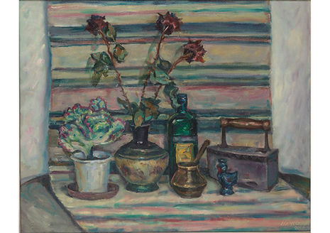 Still Life with Carpet, Oil on canvas, 80 x 100 cm