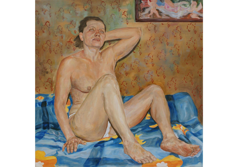 Odalisque, Oil on canvas, 100 x 100 cm