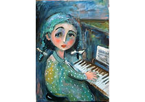 The Little Pianist, Oil on canvas, 40 x 60 cm