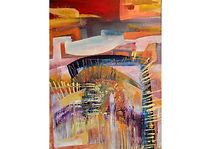 Time Is Always Against, Acrylic on canvas, 84 x 54 cm