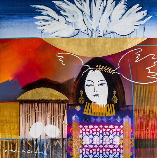 Peace - Mouna Chouk -Acrylic on canvas