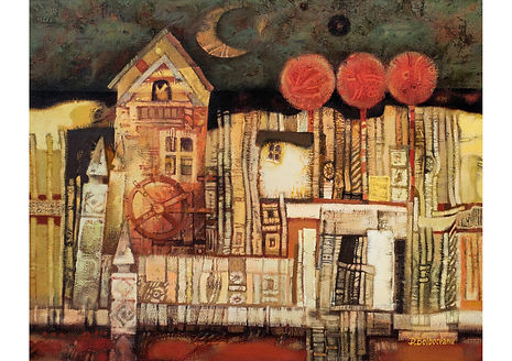 Night Moon, Oil on Canvas, 80 x 100 cm