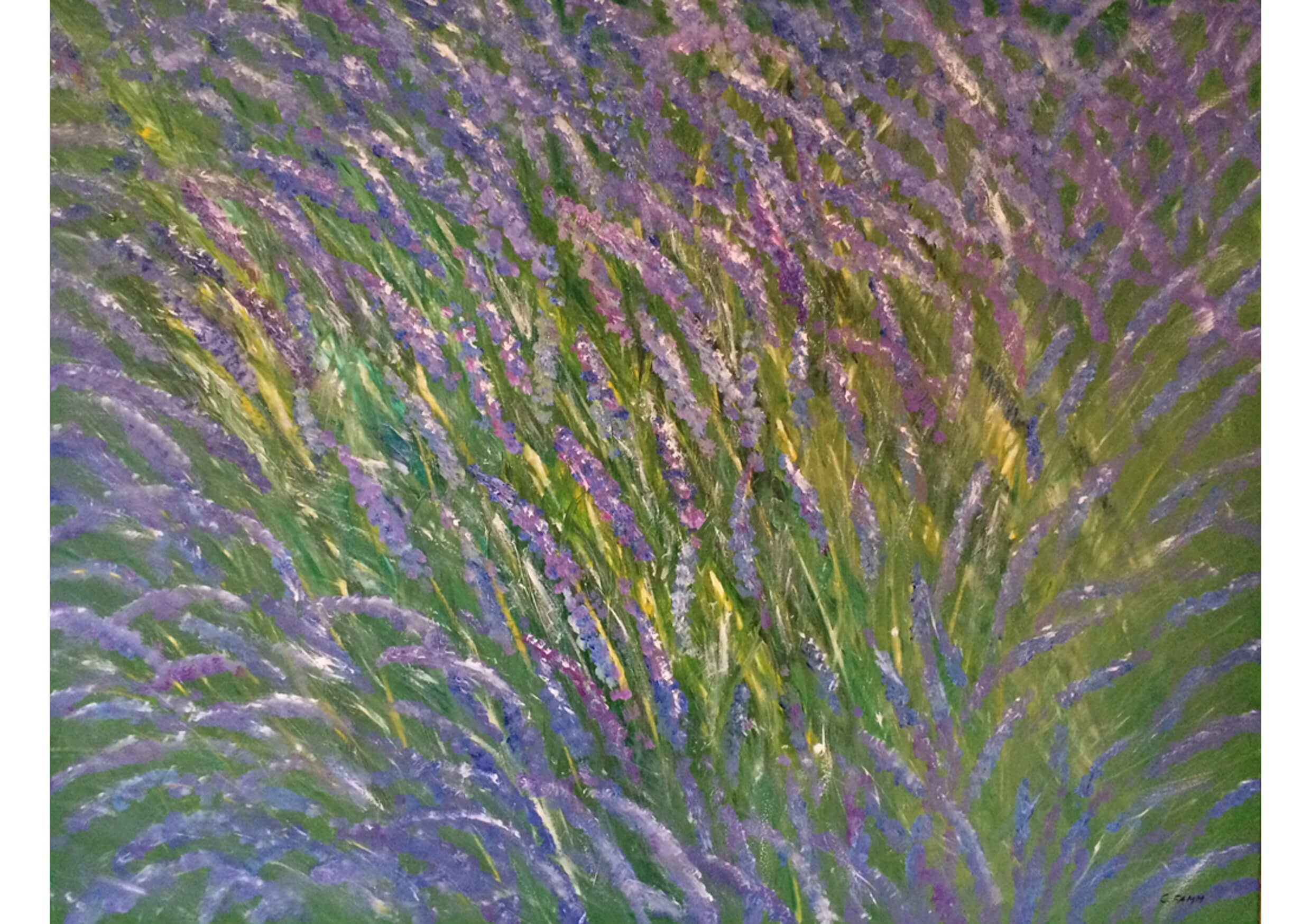 Lavender dream, Oil on canvas, 90 x 115 cm