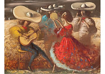 Mexican rhythm, Mixed media on canvas, 70 x 90 cm