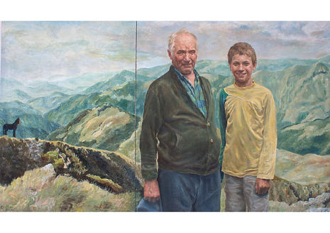 Promised Land, Oil on canvas, 100 x 170 cm
