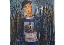 The amorphous inactive in Slanic, 80 x 80 cm, Acrylic on canvas