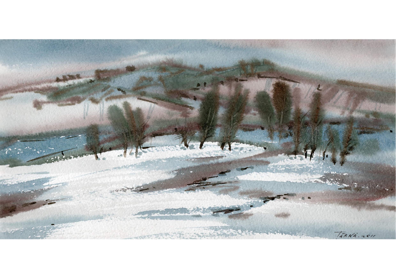 Season, Watercolour on paper, 15 x 30 cm
