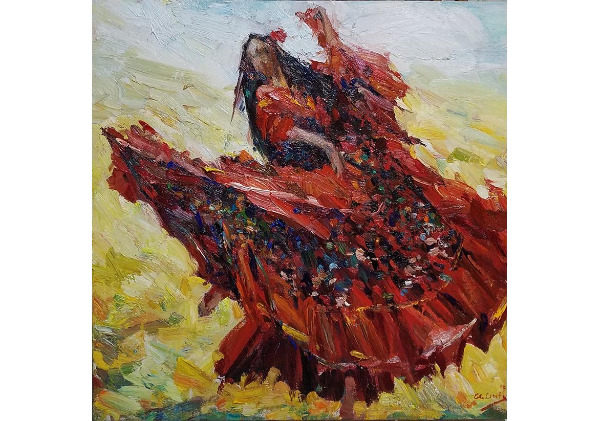 Dancer, 50×50cm,oil on canvas, 2019, 900€