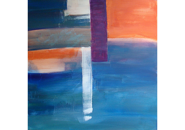 Looking for Santorini, Acrylic on canvas, 70 x 70 cm
