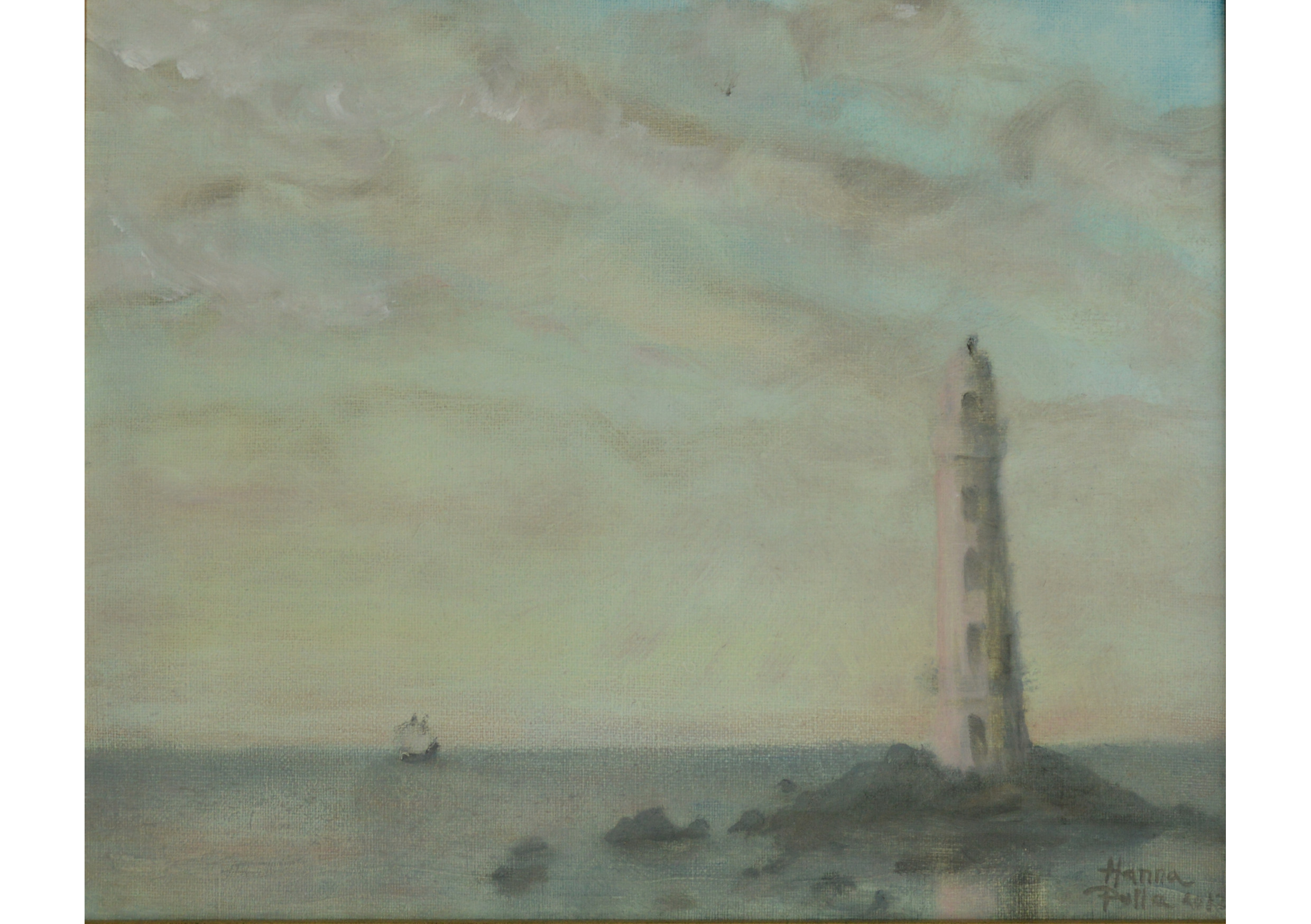 The Lighthouse, Oil on canvas, 22 x 27 cm