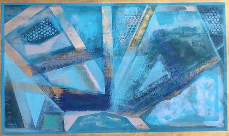 Muharraq Blues, Oil on canvas, 68 x 104 cm