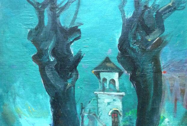 Black Trees by Valeriu Herta