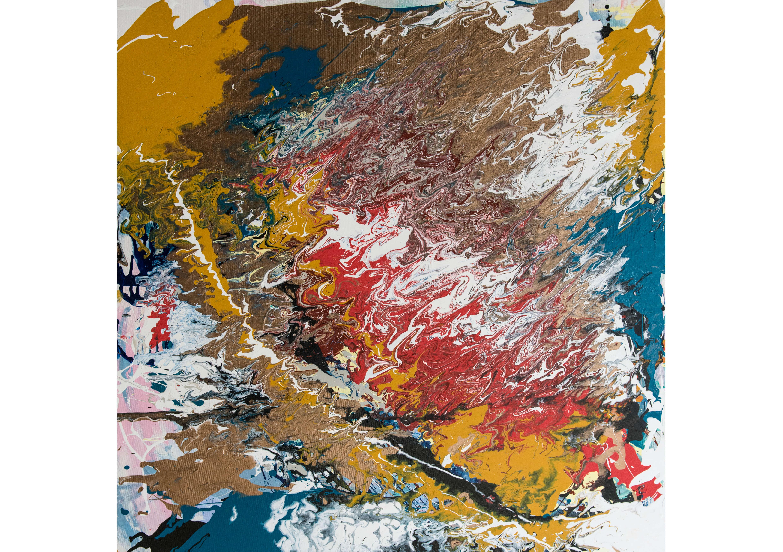 Golden Shore, Acrylic on canvas, 100 x 100 cm