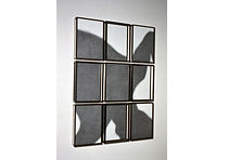IMMERSIONE 2007, pencil on paper, painted  iron frames 9 elements, installation, cm.150x105x8